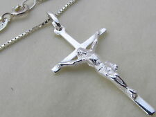 Genuine 925 Sterling Silver Crucifix / Cross Pendant / Necklace Mens / Ladies