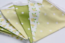Shabby Vintage Chic Spring Bunting ~ From £6.85 ~ Lime Green and Yellow