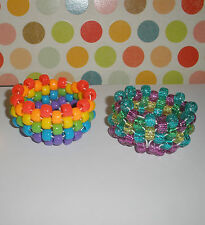 TODDLER BRACELETS Girls 3T 4T 5T Kandy Cuff bracelet 3-5 yrs Rainbow or Glitter
