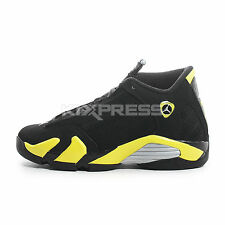 Nike Air Jordan 14 Retro BG [487524-070] Basketball Black/Vibrant Yellow-White
