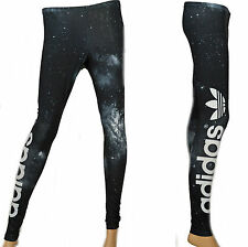 Adidas Originals Space Leggings Trefoil Tight Pants Black Sz. 8 - 14 BNWT Women
