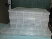 Multiple Plastic Storage Boxes Bead Boxes Jewelry Boxes Organizer Many Options!