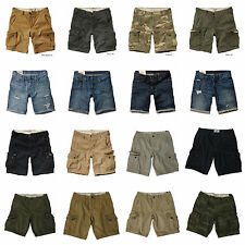 HOLLISTER MENS CARGO SHORTS NEW by Abercrombie Knee Length SZ: 30,31,32,33,34,36