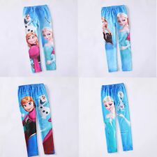 Girl's Disney Frozen Anna and Elsa Skinny Leggings Tights Pants Trousers 3-8Y