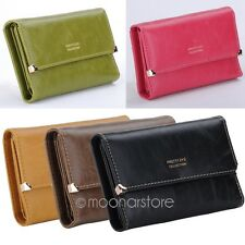 2014 Fashion Women Leather Wallet Button Clutch Purse Ladies Long Short Handbag