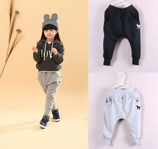 Kids Toddlers Girls Clothing Pure Color Leggings Haren Pants Trousers Sz 3-8Y