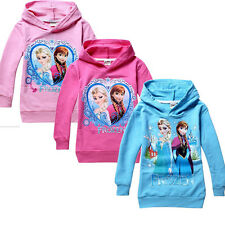 Frozen Queen disney Elsa Anna Girls Hoodies Tops Shirts 3-8Y Toddler Clothing