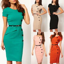 Womens Business Pencil Bodycon Offices Evening Cocktail Party Dresses