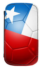 Chile Flag Football Ball PU Leather Phone Cover Case Chilean Soccer Fútbol Team