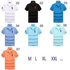HOT Summer Men's T-shirt Short sleeve Solid color Cotton Work clothes POLO Shirt