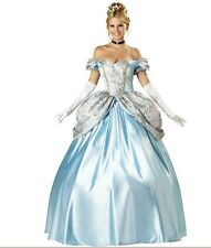 WOMENS ADULT PRINCESS CINDERELLA FAIRYTALE COSTUME FANCY DRESS OUTFIT 208961