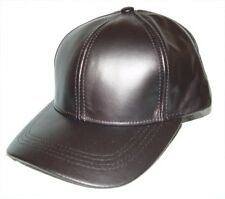 100 % Leather base ball baseball cap hat - uniSex -1 Size fit all - Made in USA
