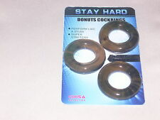 STUDCOLLAR-STAYHARD-DONUTS - Black rubber penis ring, erection / impotence aids