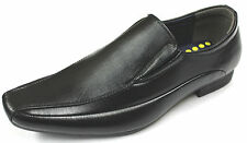 Men's New Black Slip-on Casual / Formal / College / Shoes UK Sizes 6,7,8,9,10.