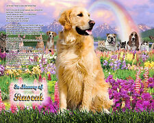 Dog Memorial Personalized w/Name-Rainbow Bridge Poem-Any Breed-Unique Gift