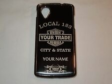 PERSONALIZED cell phone case fits: LG GOOGLE NEXUS 5, UNION, UNION TRADE, L@@K