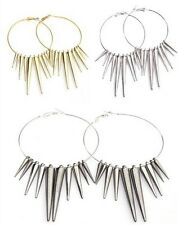 Punk Style Acrylic Spike 57MM Basketball Wives Earrings Earring Findings 3pairs
