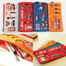 New Chic I Love London Design Zipper Pen-Pencil Case Pouch Cosmetic Bag OSS-0065