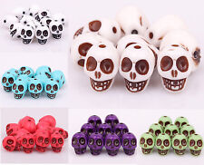 20/40pcs Golden/White/Green Turquoise Skull Shaped Spacer Beads 13X10mm Fashion