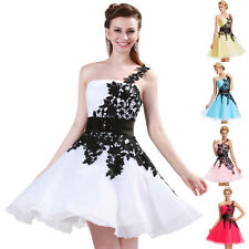 2014 Sexy Short Bridesmaid Evening Party Prom Gown Wedding Dress White & Black