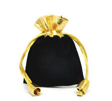 Wholesale Lots Black Velvet Drawstring Pouches Jewelry Gift Bags 7cmx9cm