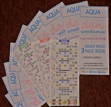 HALF A SET OF 3 PAGE HOUSIE BINGO BOOKS CHOOSE DIFFERENT COLOURS 6 TO VIEW