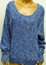 Vince Camuto SMALL SWEATER BLUE WHITE$9 NEW Womens MARLED BLUE