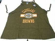 WOMENS CLEVELAND BROWNS NFL V NECK SHIRT BIG SIZES L XL 2XL 3XL 4XL BRAND NEW