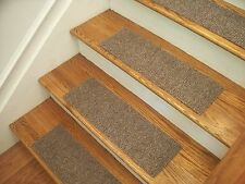 "Premium Carpet Stair Tread Sets - Berber Best Beige - 24"" x 8"""