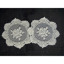 Traditional Lace Table Doilies – Floral Jacquard Lace Cream Table Place Mats