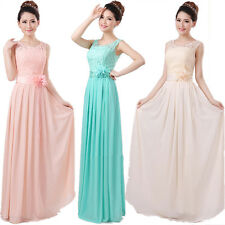 New Long Chiffon Lace Bridesmaid Evening Formal Party Ball Gown Prom Dress