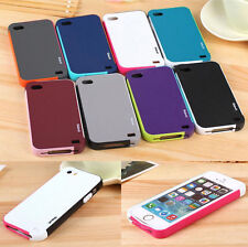 For iphone 4 5S 5C Fashion Hybrid Rubber Soft Silicone Gel Bumper TPU Case Cover