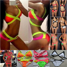 Women's Ladies Bra Bandage Bikini Set Push-up Padded Swimsuit Bathing Swimwear