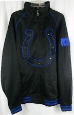 Indianapolis Colts NFL Tricot Full Zip Track Jacket Black Big & Tall Sizes