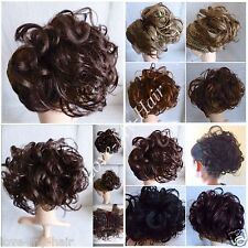 Clip In On Chignon Updo Curly Clip On Wavy Hair Piece with Palm Clip