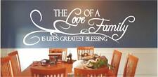 The Love of a Family is Life's Greatest Blessing Vinyl Wall Decals Quote Sticker