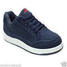 New Mens Boys Canvas Casual Trainers Plimsoles Classic Walking Lace Up Shoe size