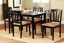 5 Piece Dining Set Wood Breakfast Furniture 4 Chairs Table Kitchen Dinette Nook