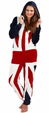 BNWT Womens Union Jack Hooded Onesie, Small - XL