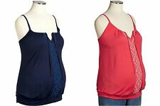 Old Navy Maternity Embroidered Bubble Tanks! 2 to chose from! NEW
