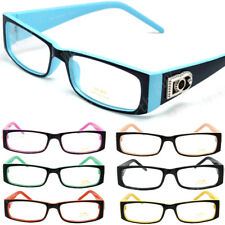 DG Clear Lens Rectangular Frames Glasses Fashion Optical RX Womens Mens Nerd New