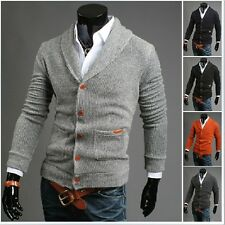 Men Casual Slim Fit V-neck Knitted Cardigan Pullover Jumper Sweater Tops 1341