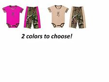 "OFFICIALLY LICENSED BROWNING BABY 2 PC ""DRAGONFLY"" PANT SET-2 COLORS TO CHOOSE!"