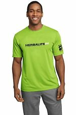 Herbalife 24 Cool Dry Fit. Lime Shock T Shirt for Men, Black n White Letters