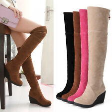 HOT Women's Shoes Mid Calf Boots/Over The Knee High Boots Wedges Platform Knight