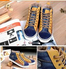 New Mens Winter Warm Plush Casual High Top Loafers Shoes Ankle Boots Sneakers