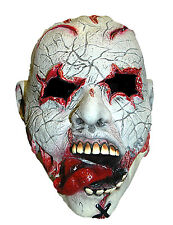 Fancy Dress Halloween Mask Gouged Eyes Stick Out Tongue Scary Zombie Horror