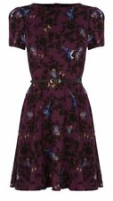 Brand New Oasis Belted Bird Butterfly Dress
