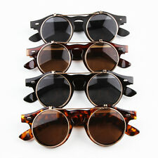 Fashion Steampunk Goth Glasses Goggles Round Flip Up Sunglasses Retro Vintage