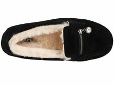 UGG Ansley Charm Black Driving Loafers Slippers NEW NIB FREE Ship to US!